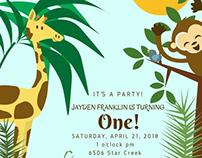Party Invitation - Jungle Theme