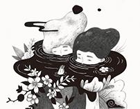 【 二馬中元 - 影劇六村有鬼 】 內頁插畫 / Illustration