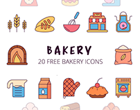 Bakery Vector Free Icon Set