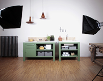 Very Simple Kitchen [Vintage Green+Marble]