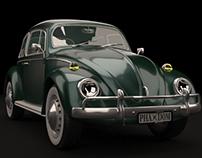 Volkswagen Beetle 3D Render