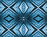 Pattern, blue base