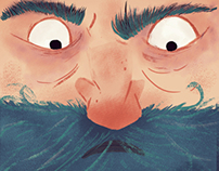 Blue Beard Illustration for Fixionaria