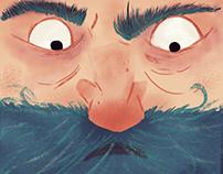 Blue Beard Illustration for Fixionaria