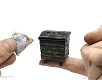 Miniature Dumpster Set