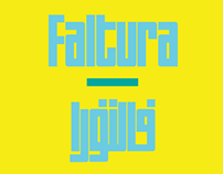 Arabic Faltura typeface