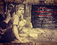 Child Labor - Charcoal Drawing