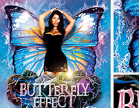 Butterfly Effect Party FREE PSD Flyer Template