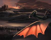 Dragon et château