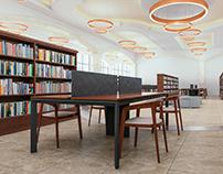 Kütüphane İç Mekan Tasarım ve Görselleştirme