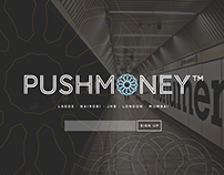 PUSHMONEY • Logo & Splash Page