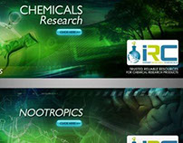 Web Banner Designs for IRC (Import Research Chemicals)