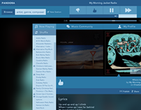 Pandora Internet Radio Re-Design