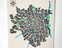 Milan - Typographic Map