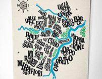 Turin Typographic Map