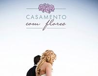Logotipo Casamento com Flores