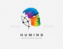 Human Colorful Polygons Logo