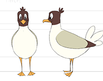 Seagull character design