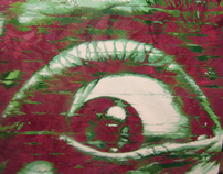 EYEBALL GRAFEENEY ORIGINAL GRAFFITI CANVAS