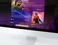 Concert Venue Concept Website