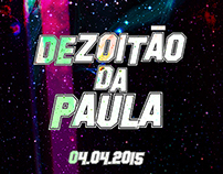 Dezoitão Da Paula Neon Party Flyer