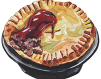 World Food Illustrations for Voyeur Magazine