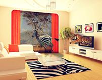 Wild living room