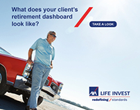 AXA Life Invest Retirement Dashboard Webpage