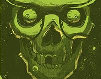 Tshirt - Molotov Nerd Skull