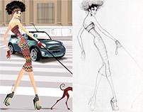 Walking Barcelona. Ilust. Corel Draw X6