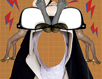 Monja Jamón - Collage Digital