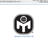 Mensa business card