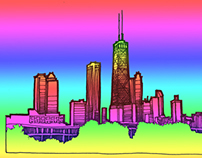 Chicago Skyline drawing