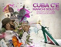 Landing page and poster design for Cuba campaign