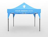 Free Display Tent Mockup Ver. 2