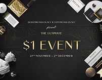 $1 EVENT - $1 TEMPLATES