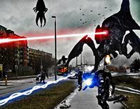 Invasion Photomontage