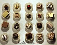 Paper quilling chocolates
