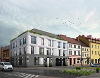Multifamily residential building - infill architecture