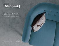 Shopnik   Concept Website Design