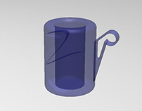 CUP BLUE