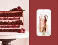 Dessert & cakes confectionery website design