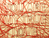 String Art - You are my true love sweety