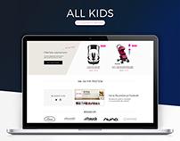 All Kids eCommerce website