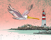 Lighthouse & Gull