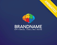 Brain Puzzle Logo