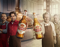 """Tyskie """"Brewers"""" ad."""