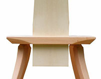 A wooden chair.  Simple; Comfortable;