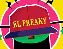 Advertising for EL FREAKY merch