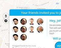 Popup to Invite friends